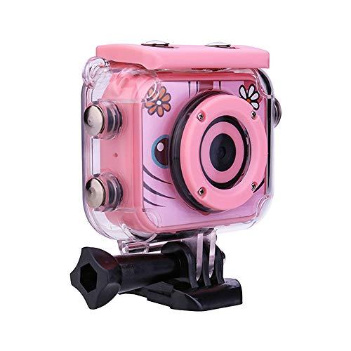 Dewanxin Impermeable Camara Fotos,Camara para Niños,Cámara Fotos Niños 12MP / 1080HD,Video Cámara Infantil con Pantalla de 2 Pulgadas,Carcasa de Impermeable,con Tarjeta de 32GB TF (Pink)