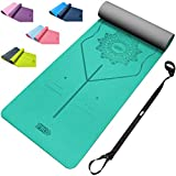 Yoga Mat – TPE Eco friendly Non Slip Yoga Mat for Exercise, Gym, Pilates, Fitness and Workout with Free Carry Strap 183cm x 61cm x 6mm