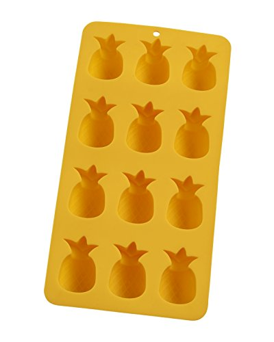 HIC Harold Import Co. 43822 Pineapples Ice Cube Tray & Baking Mold, Yellow