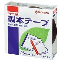 (まとめ) ニチバン 製本テープ<再生紙> 25mm×10m 黒 BK-256 1巻 【×10セット】
