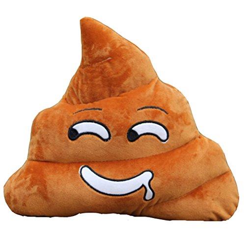 weitengs relleno almohada cojín Emoji caca con forma de Smiley Face muñeca juguete cojín con forma de caca