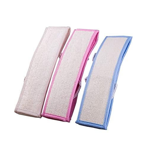 Natural Loofah Toalla de baño Tire hacia atrás tira frotando toalla Scrubber Back Scrub Bath Rub Back Towel 3pcs