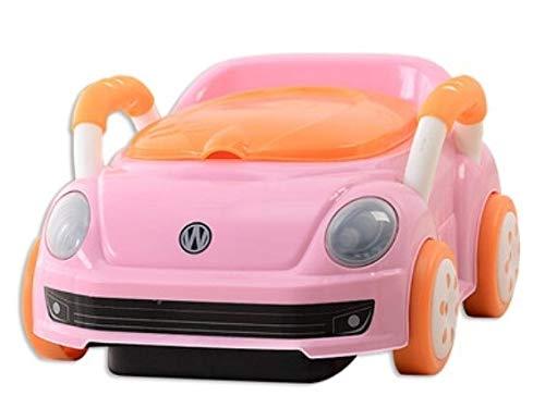 Zcm Vasino per Bambini Chair Bambini Potty Training Car Nuovo Fumetto Schienale Bambini Svegli Pot vasino for Neonati Bambini Orinatoio Toilet Seat (Color : Pink)