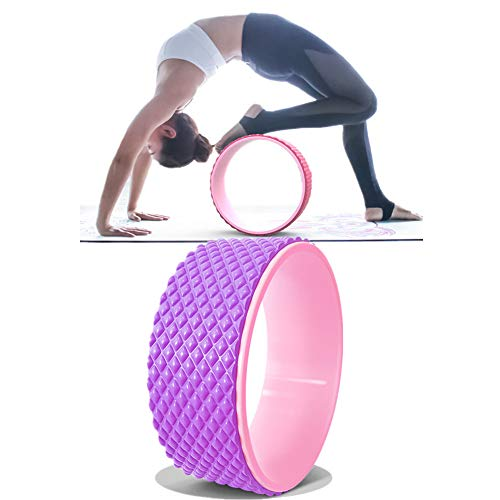 hongyupu Ruota Yoga Yoga Wheel Ruota Yoga per Stretching Fitness Yoga Wheel Indietro Allenamento Pilates Ruota Yoga Posizione Yoga Purple,-