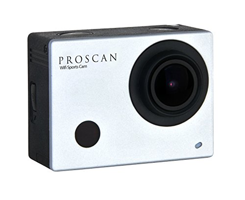 Proscan 1080P Sports & Action Video Camera with Wi-Fi, 2-Inch Screen, Waterproof Case and Accessories