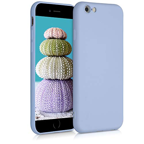 kwmobile Funda Compatible con Apple iPhone 6 / 6S - Carcasa de Silicona TPU para móvil - Cover Trasero en Azul Claro Mate
