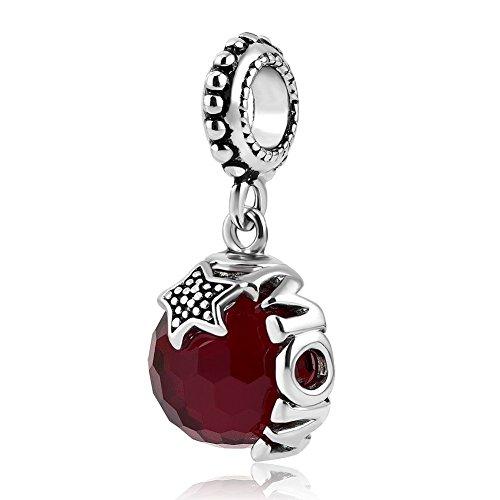 Uniqueen - Colgante de cristal con estrella para mamá. Se ajusta a las pulseras Pandora Charms.
