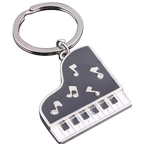 U/K gut aussehend1 Stücke Kreative Metall Klavier Schlüsselbund Schlüsselanhänger Schlüsselanhänger Strap Schlüsselanhänger Clip Anhänger Geschenk Tragbar und Nützlich