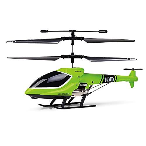 UJIKHSD Drone Elettrico per Elicottero RC in Lega A 4 Canali con Luce 2.4G Wireless Smart Aircraft Resistenza alla Caduta E agli Urti Piano RC Boy Girl Toy Bambini Regali di Compleanno di Natale