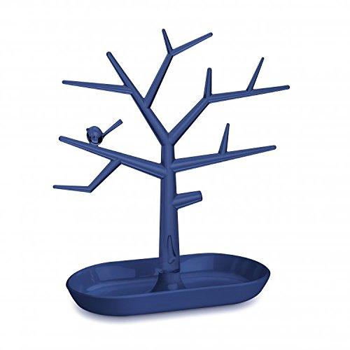 en thermoplastique Transparente Profonde en Velours Bleu Koziol Bague de Support