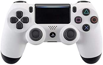 White soft PS4 Rapid Fire Custom Modded Controller 40 Mods for All Major Shooter Games, Auto Aim, Quick Scope, Auto Run, Sniper Breath, Jump Shot, Active Reload & More (CUH-ZCT2)