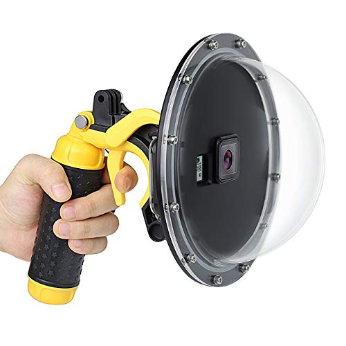 Soosun Unterwasser-Dome-Port mit wasserfestem Gehäuse für GoPro Hero 3, 3+, 4, 5, 6, 7 8 Action-Kameras