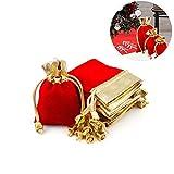 Bolsa de Regalo con Cordón Jabones para Regalar Fiesta Favor Suministros Navidad Bolsas de Regalo Decoración de Bolsas de arpillera 7 * 9cm