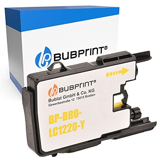 Bubprint Kompatibel Druckerpatrone als Ersatz für Brother LC-1220 LC-1240 LC1220Y LC1240Y für MFC-J430W MFC-J5910DW MFC-J6510DW MFC-J6710DW MFC-J825DW Gelb