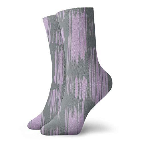 Drempad Luxury Calcetines de Deporte Vertical Lilac Brush Strokes Pattern Unisex Socks, All-Season Lightweight Ankle Socks Crew Socks