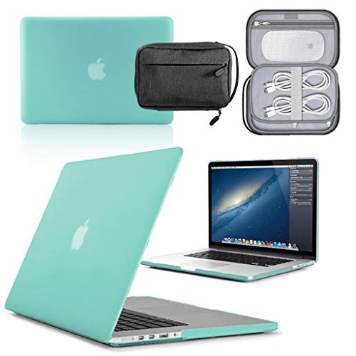 GUPi - Egg Blue Hard Shell Case, Cover with Water Resistant Accessory Bag for Apple MacBook Pro [13-inch Pro A1502 (Retina Display) - 2013-2015]