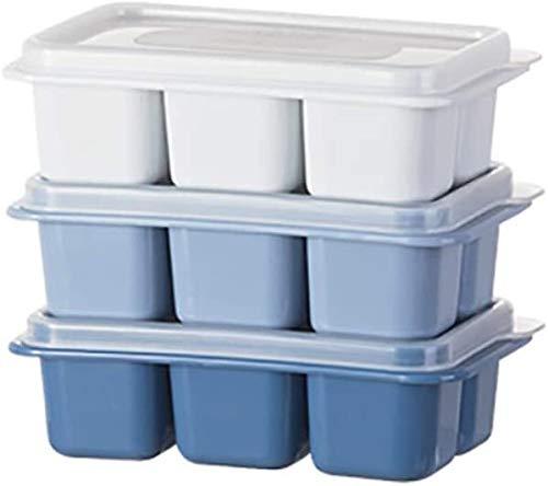 Ice Cream moule Outils de cuisine avec non Spill empilables Couvercles for réfrigérateur Déverrouillage (Color : -, Size : -)