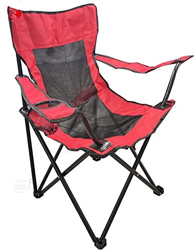 Sillas de Camping Plegables, 50x50x80cm, Sillas para Exteriores, Estructura Estable, Capacidad de...