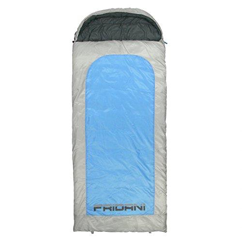 Fridani Schlafsack BB 235 x 100 cm XXL Deckenschlafsack Blau -22°C warm wasserabweisend waschbar