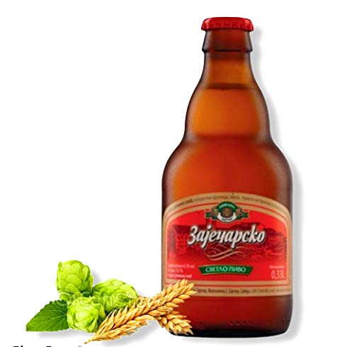 12 Flaschen Zaječarsko Bier aus Serbien mit 4,5% Alc. 0,33l Beer Pivo