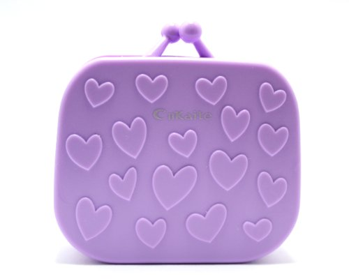 Kontaktlinsenbehälter Linsenbehälter Aufbewahrungsbehälter Handtasche Set NEU (Lila)