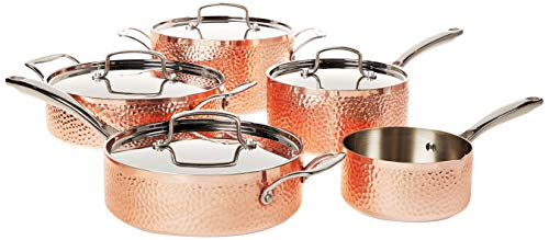 Cuisinart Hammered Collection Cookware Set, Medium, Copper