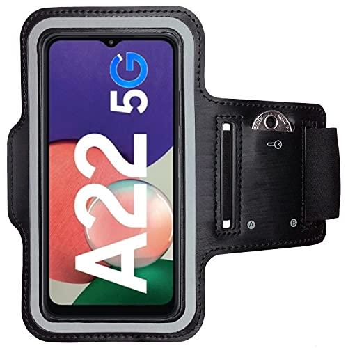 CoverKingz Brazalete deportivo para Samsung Galaxy A22 5G, con compartimento para llaves Galaxy A22 5G, color negro