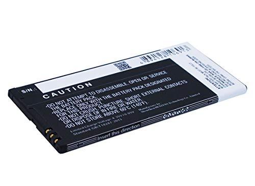 eVendix Akku kompatibel mit Microsoft Lumia 640 XL 3,00 Volt 3000 mAh 9,00 Wh Li-Ion Akku