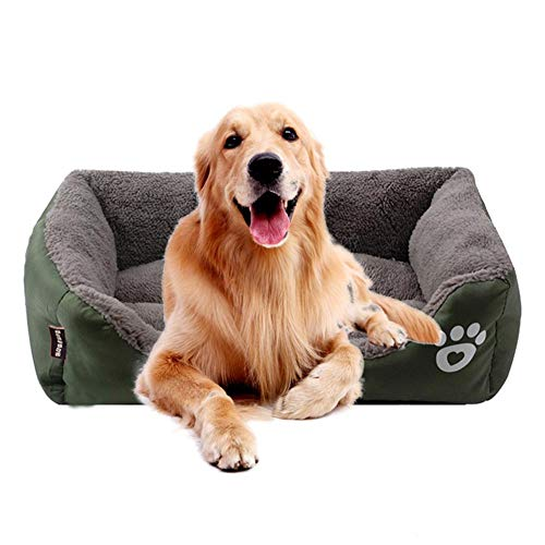 KOBWA Cama ortopédica para Perro, de Felpa Premium Impermeable, para