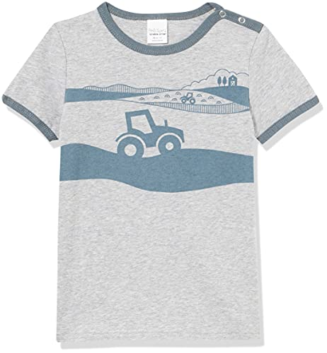 Fred's World by Green Cotton Baby-Boys Farming s/s T-Shirt, Pale Greymarl, 98