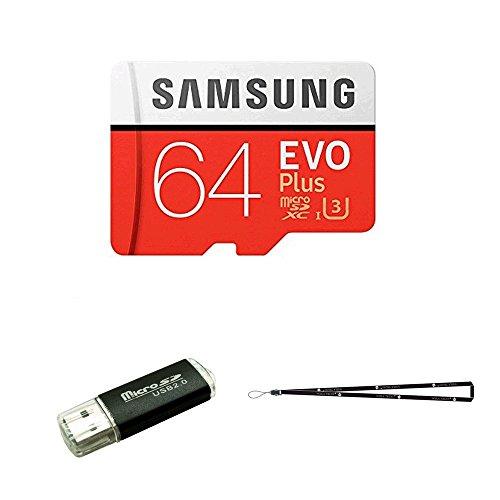 64GB Samsung Evo Plus Micro SD XC Class 10UHS-164G Speicherkarte für Samsung Galaxy S8, S8+, Note 8, S7Edge, S5Active, S4, S3, Handys mit TF/SD USB-Kartenleser Wisla TM Lanyard (mb-mc64da/AM)
