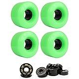 TGM Skateboards Skateboard Cruiser Wheels 54mm x 32mm 83A 802C Green Ceramic...