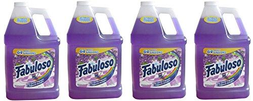 Fabuloso 04307-4 Lavender Multi-Purpose Cleaner, 128 fl oz (4 Gallons), 4 PACK