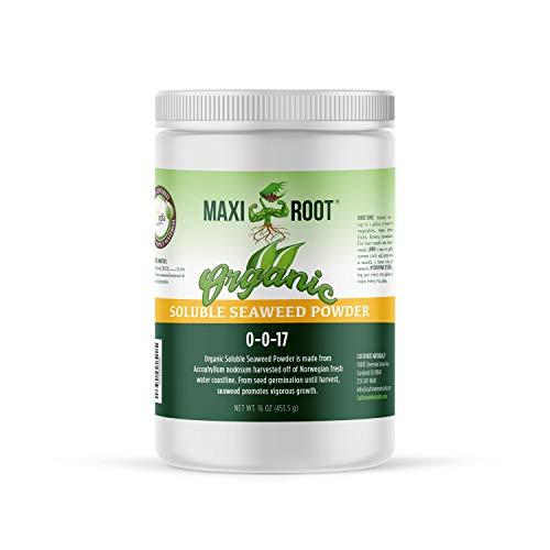 MAXIROOT Organic Soluble Powder 0-0-17, 1 LB, CDFA Organic Material Input Registered