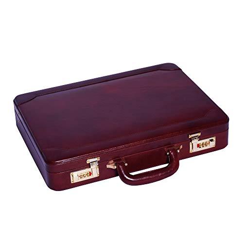 LINDSEY STREET Aktentasche aus echtem Leder für Herren, Laptop, MacBook, 15 Zoll (38,1 cm), Bombay to Tan (Braun) - LS002