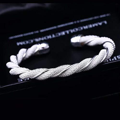 Designer Inspired Knot Mesh Bangle Bracelet Solid Sterling Silver 925 Plated