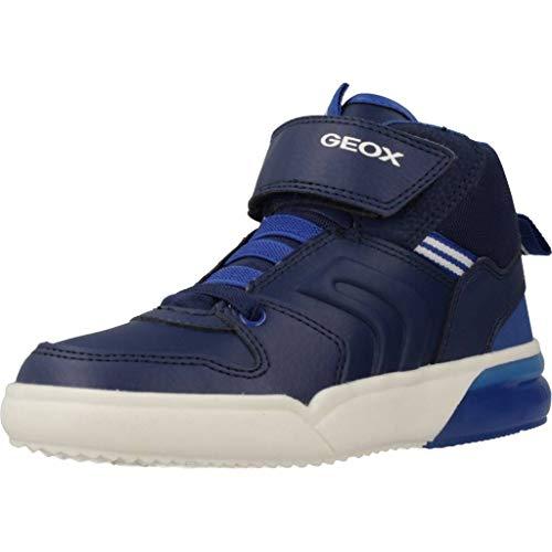 Geox Jungen J GRAYJAY Boy C Hohe Sneaker, Blau (Navy/Royal C4226), 24 EU