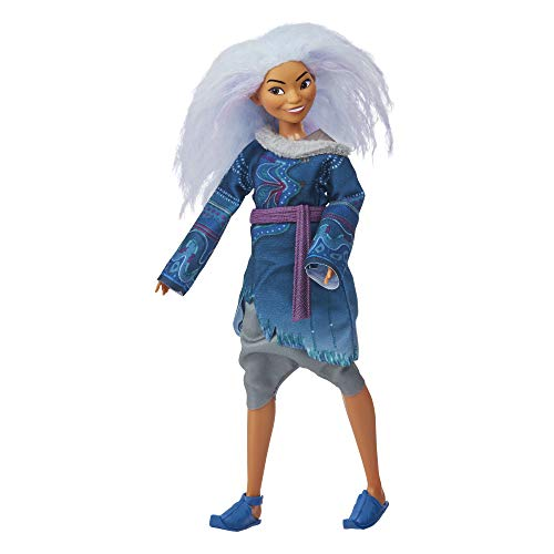 Disney Sisu Human Fashion Doll with Lavender Hair and Movie-Inspired Clothes Inspired by Disney's Raya and The Last Dragon Movie, Toy for 3 Year Old Kids and Up