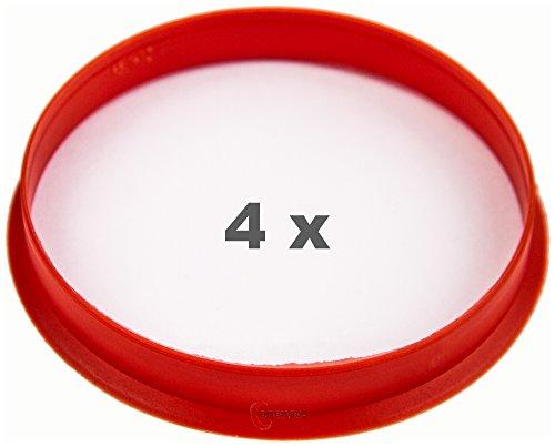 4 x pneugo! Bagues de centrage pour jantes alu 65.1 mm - 63.4 mm