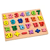 Amagogo Buntes Puzzle-Brett Spielzeug Pädagogisches Alphabet Zahlenerkennung Intelligenz Eltern-Kind-Feinmotorik Hand-Auge-Koordination - Stil 1