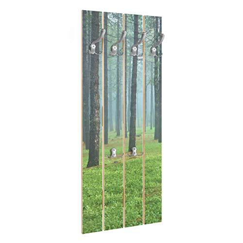Bilderwelten Perchero de Madera Forest Pine Trees On La...