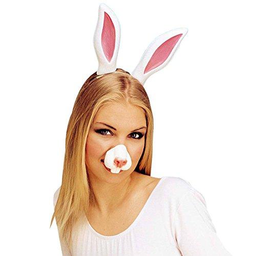 Amakando Museau de Lapin Masque de lièvre Bunny Enterrement de Vie de Jeune Fille soirée Alice déguisement Accessoire