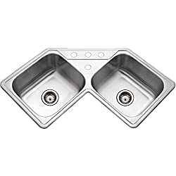 Houzer LCR-3221-1 Legend Series - Kitchen Sink for Corner