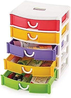 PSI Organizer Multipurpose Storage 5 Floor Drawer(Assorted Colour)