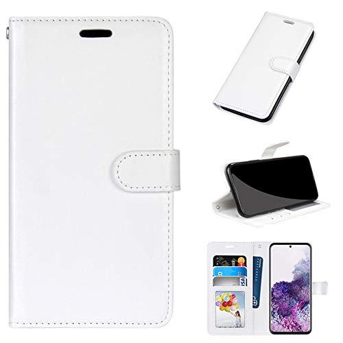 GARITANE Hülle Kompatibel mit LG G7 ThinQ/G7+ ThinQ/G7 One/G7 Fit,Handyhülle Hülle mit Magnet Kartenfächer Schutzhülle Retro Lederhülle (Weiß)