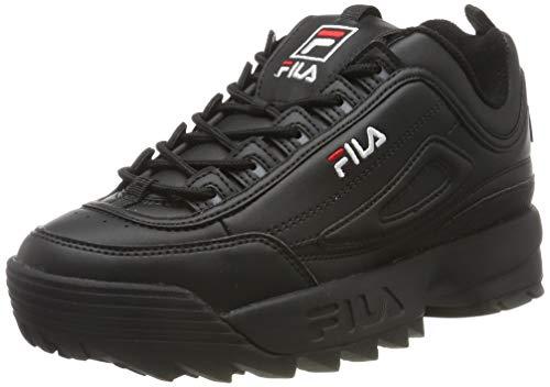 FILA Disruptor, Zapatillas para Mujer, Black/Black, 39 EU
