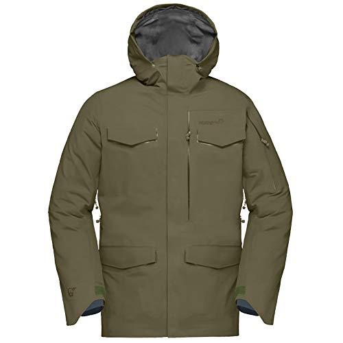 Norrona M Roldal Gore-Tex Jacket Grün, Herren Gore-Tex Isolationsjacke, Größe S - Farbe Olive Night