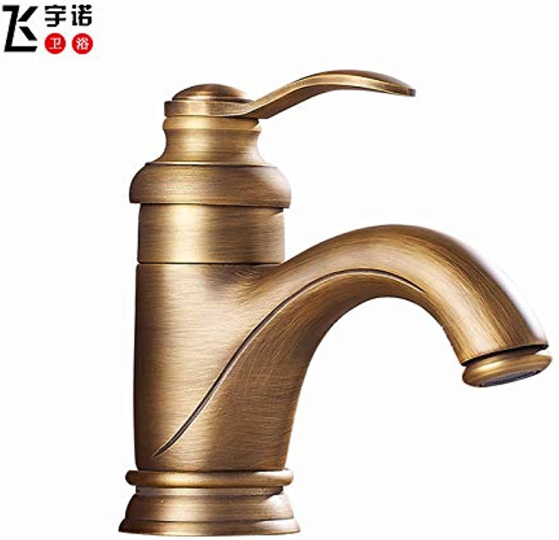 redOOY Taps Faucet All Copper Basin Faucet Faucet Copper Basin Faucet Wash Basin European Basin Faucet, Antique Dwarf