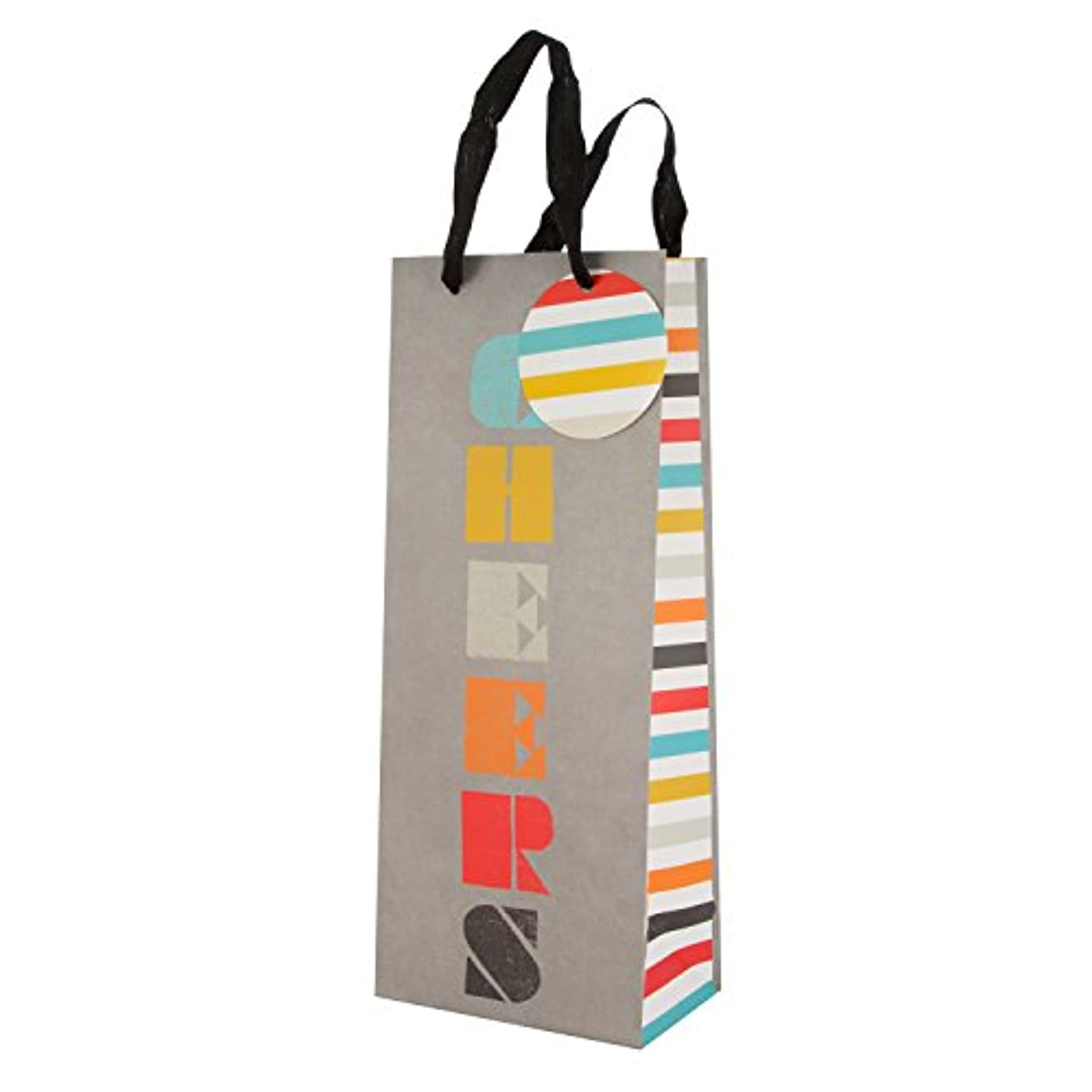 Colourful Gift Bag 'Cheers' - Bottle
