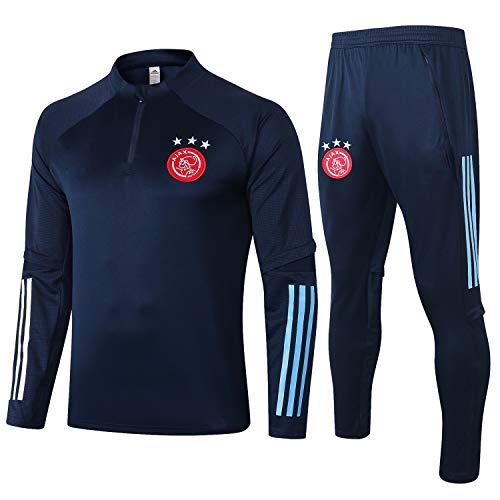 PARTAS Ajax Tracksuits Football Wear Verein Uniform Langarm-Trainingsanzug Wettbewerb Anzug Ajax Tracksuits Mens 2 Stück Sets (Size : L)